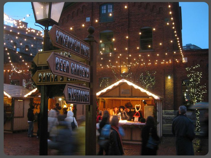 Lowes Christmas Market Distillery District Toronto Canada