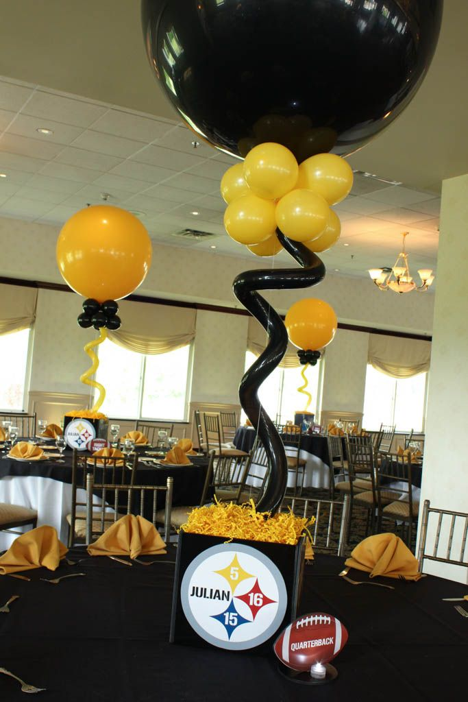 19 best pittsburgh steelers birthday images on pinterest pittsburgh steelers 6 rings table decor ideas google search junglespirit Images