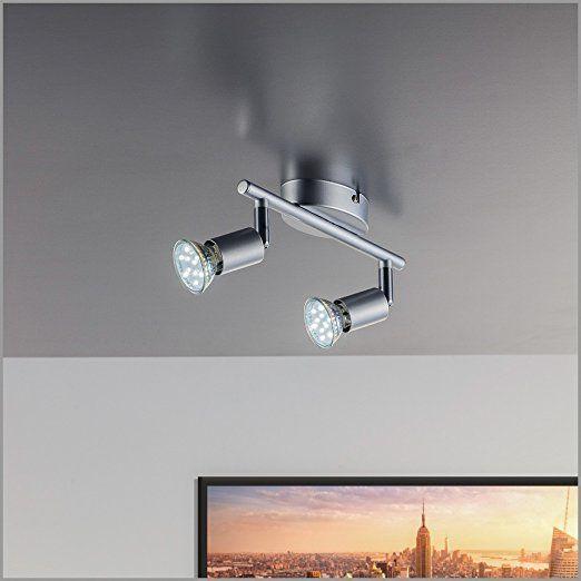 LED Deckenleuchte Schwenkbar Inkl 2 X 3W Leuchtmittel 230V GU10 IP20 Deckenlampe Deckenstrahler