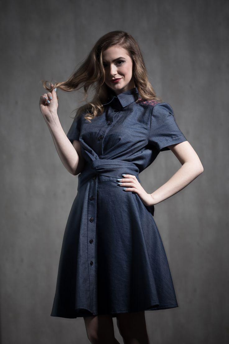 LIANA DRESS - dámske košilové šaty
