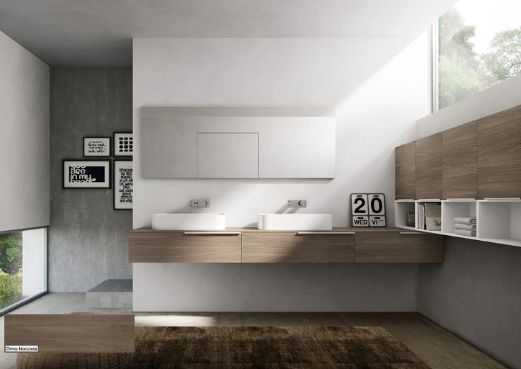 Olmo Nocciola - this wood has a warm and elegant color that makes the bathroom space more intimate #MyTime #Ideagroup #Design
