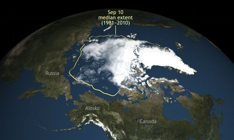 """Scientists warn increasingly rapid melting could trigger polar 'tipping points' with catastrophic consequences felt as far away as the Indian Ocean. The Arctic Resilience Report found that changes in the region could cause uncontrollable climate change at a global level. Temperatures in the Arctic are currently about 20C above what would be expected for the time of year, which scientists describe as """"off the charts"""". Sea ice is at the lowest extent ever recorded for the time of year."""