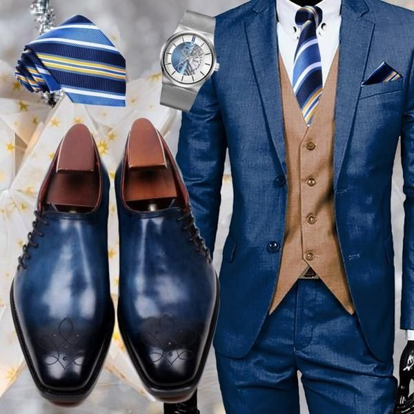 Run your Elegance 365 days a year! Elegance is a mindset Ocean - Deluxe Blue Side Lace Up Men Shoes - Runit365 your Elegant Men Store #runit365 #leather #shoes #classy #deluxe