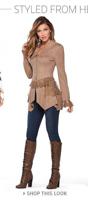 Gamuza sintética y la chaqueta del cordón, color Vaqueros ajustados, ata para arriba el cargador alto.
