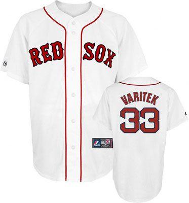 fb19a446 ... Boston Red Sox Jason Varitek 33 White Replica Jersey Sale ...