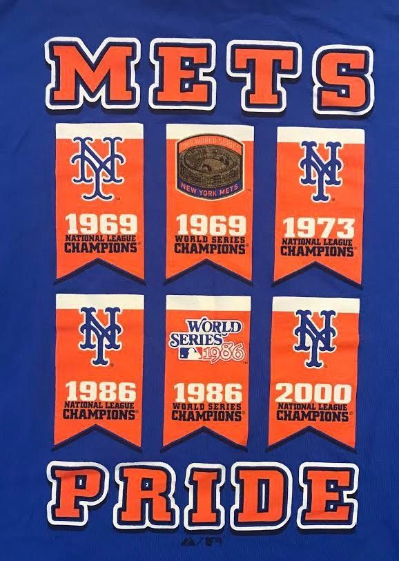 Details about Majestic NY New York Mets Shirt Sz L World