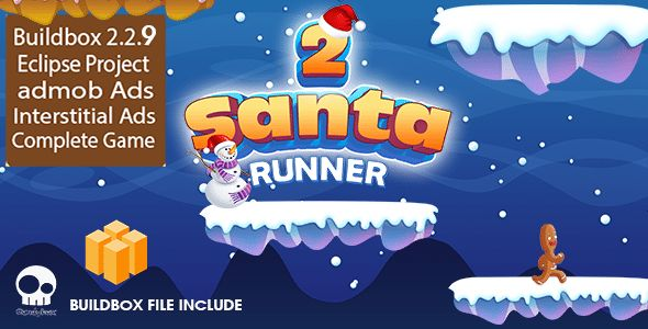 Download Santa Runner 2 - Buildbox 2.2.9 Game Template + Android Eclipse Project Template Included Nulled Latest Version