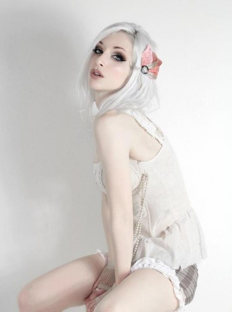 Beautiful White Hair And Steampunk Lingerie The Vanity