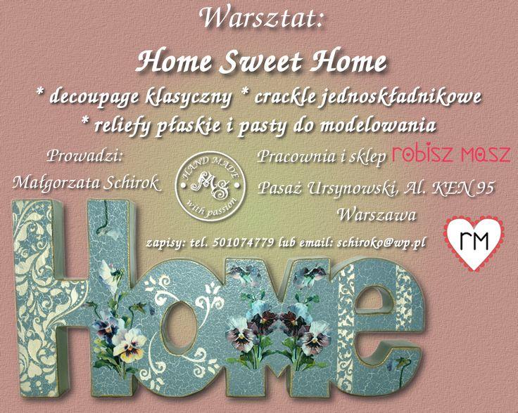 Warsztat: Home Sweet Home.