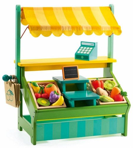 Leo's Shopkeeper Playset by Djeco - Send A Toy - 1