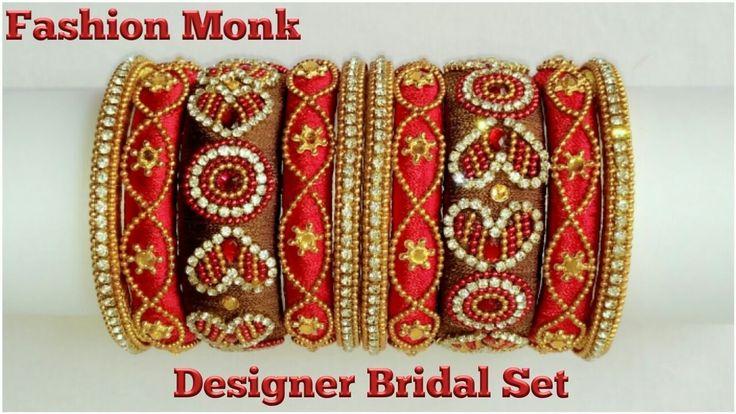 How To Make  Silk Thread Bangle | 3 in 1 Designer Bangle set | DIY Bangle | Fashion Monk Tutorial