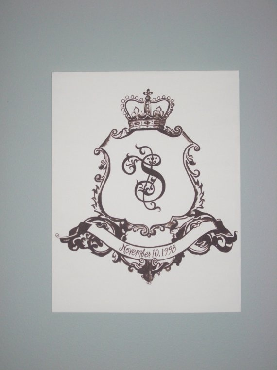 Family crest painting (customizable) on stretched canvas