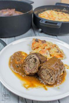 Rouladen mit Kartoffel-Süßkartoffel-Gratin im Berndes b.double [enthält Werbung] #Aufgeweckt, #EnthältWerbung, #Fleisch, #Hausmannskost, #Ofengericht, #Rind, #Sauce, #Schmorgericht, #Soulfood, #Weihnachten #foodblog #foodie #food #rezept #foodblog_de #foodpics #rezepte http://www.gernekochen.de/rezepte/hauptspeisen-gerichte-hauptgang/rouladen/