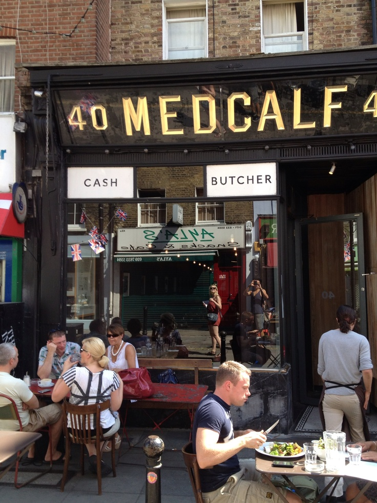 Medcalf on Exmouth Market, London. The font is amazing.