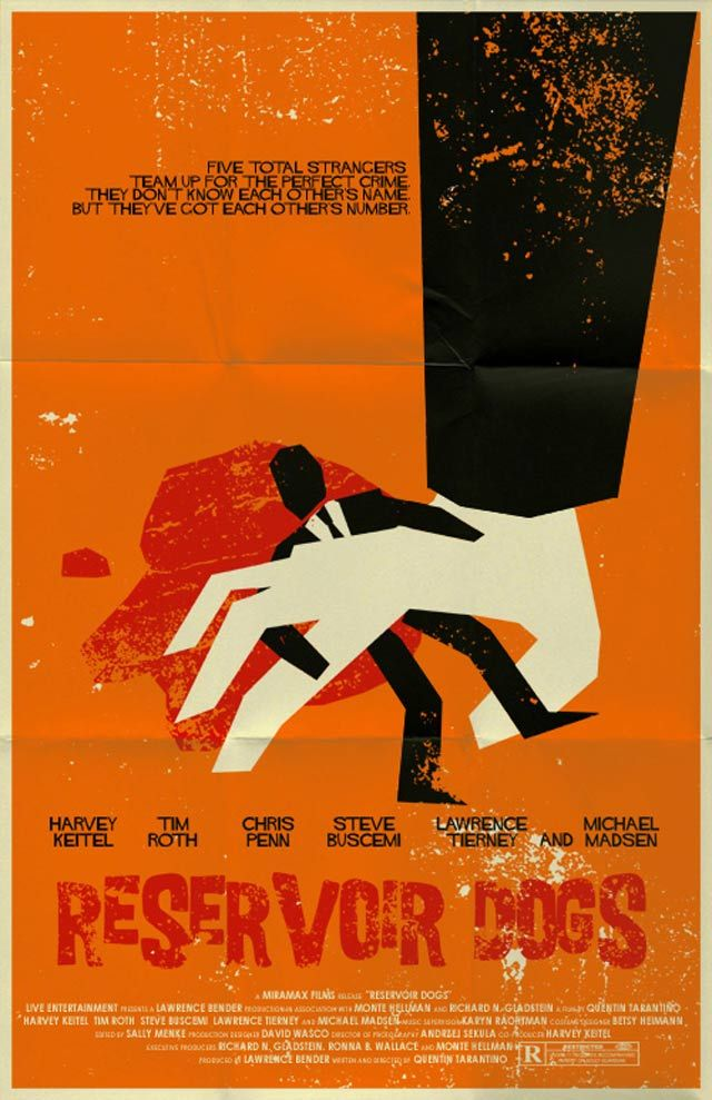 Reservoir Dogs -- Cult Movie Poster Remakes for Movie Lovers