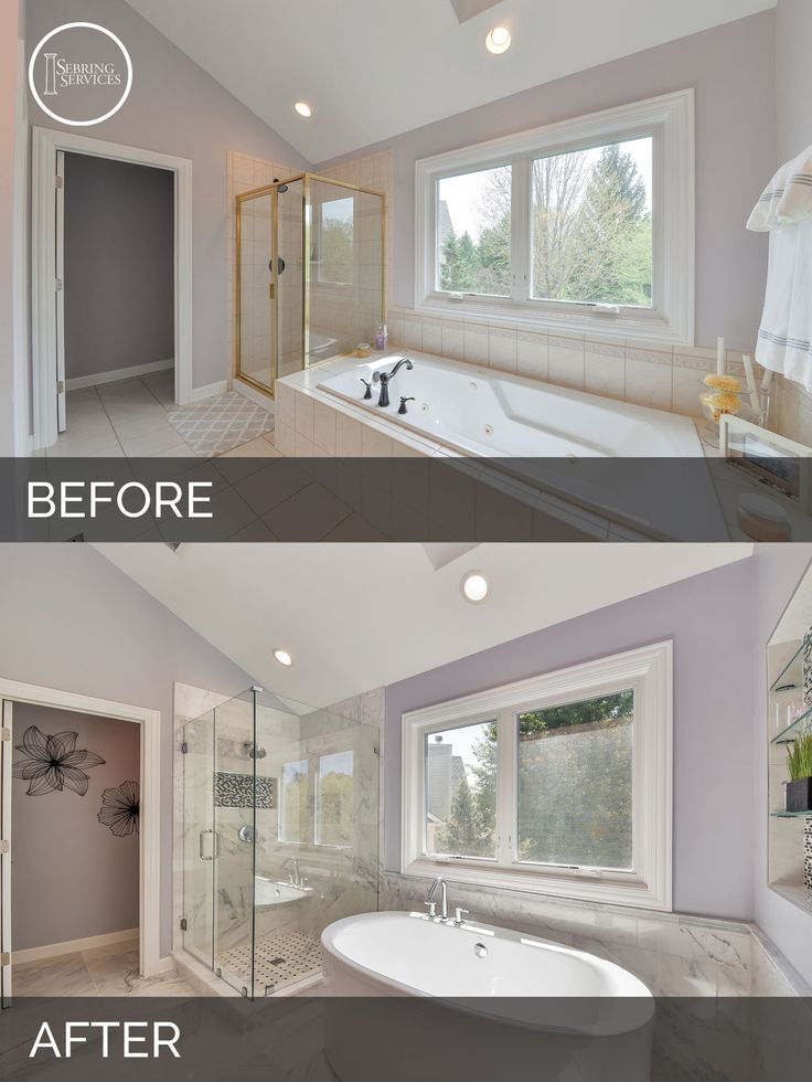 Before And After Master Bathroom Remodel Aurora   Sebring Services