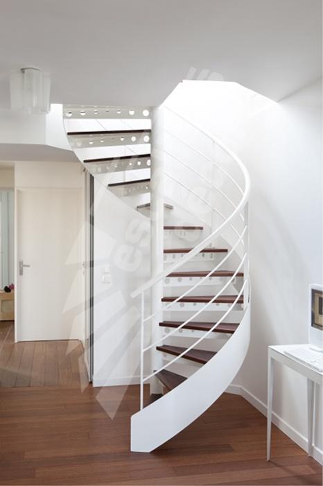 Photo dh92 spir 39 d co standing escalier int rieur en colima on m tal - Fabriquer un escalier colimacon ...