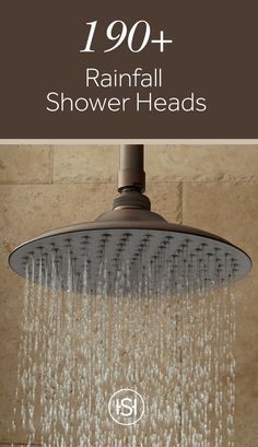 Switch out your dated shower head with one that is stylish and made of brass or stainless steel. The streams of water coming down replicate the soothing feeling of a peaceful rainfall.