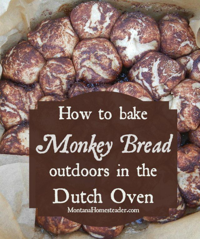 Dutch Oven Monkey Bread Recipe   This recipe is easy to make in a cast iron dutch oven when camping and so delicious!   Montana Homesteader