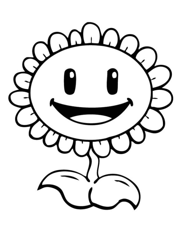 - Plant Vs Zombie Coloring Page Sunflower Coloring Pages, Plants Vs Zombies  Birthday Party, Plants Vs Zombies