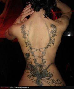 Stuning Corset Tattoo