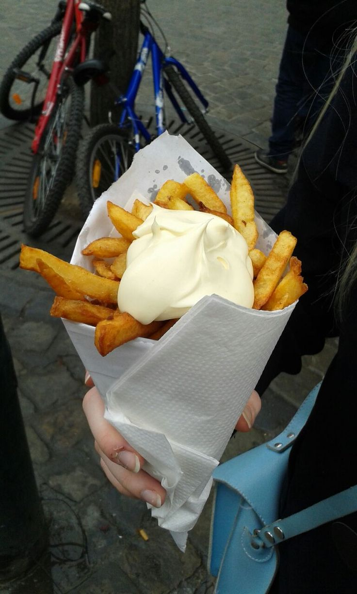 The real Belgian fries enough said (x-posted from /r/shittyfoodporn it was not shitty enough)
