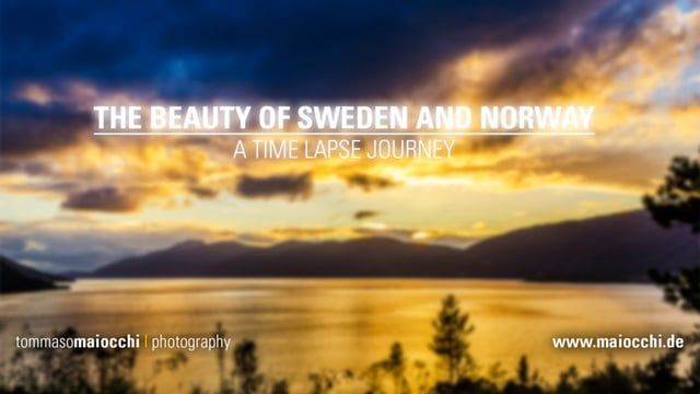 This is my first time-lapse movie. Taken during our summer vacation in Sweden and Norway.    I used about 11,000 individual images. This corresponds to approximately 200 GB of RAW data. Unfortunately the flash player changes the brightness and saturation and the audio is out of sync. So if you can use the HTML5-Player and watch without scaling. Enjoy!  Music by Premiumbeat.com  Equipment used: Nikon D7000 Nikkor 16-85 Nikkor 70-300 Walimex pro AE 14 DIY slider MX2 controller 3...