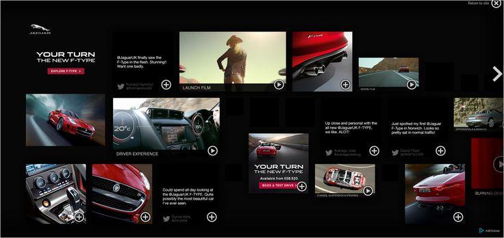 Jaguar F-type rich media takeover
