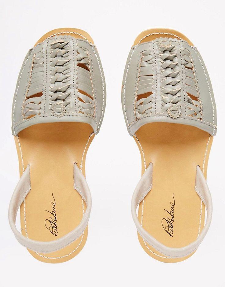 Изображение 3 из Плетеные кожаные сандалии с ремешком на пятке Park Lane