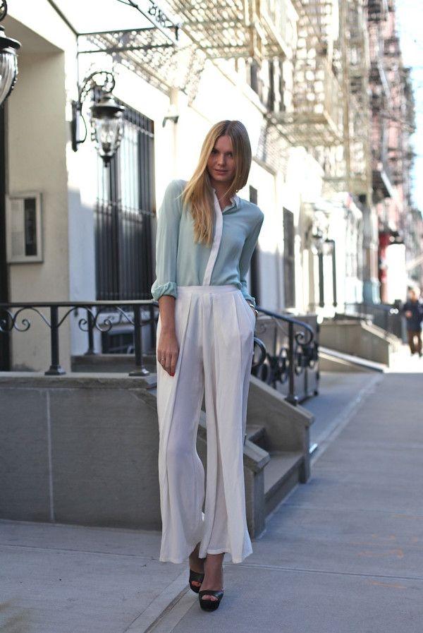 Palazzo Pants With Long Shirts Trends 2014. #palazzopants, #palazzotrouser,  #palazzodesigns