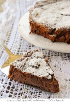 Torta veloce cioccolato e ricotta solo albumi vickyart arte in cucina