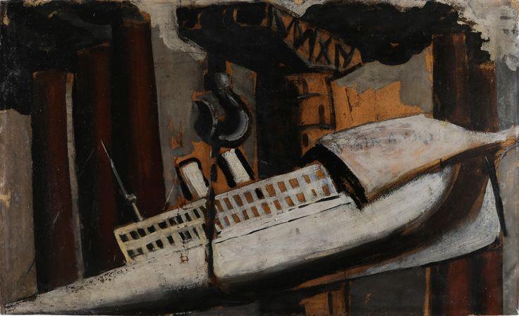 MARIO SIRONI (1885 - 1961) - Nave ciminiere e gru. [...], Art Moderne et Contemporain à Capitolium Art | Auction.fr