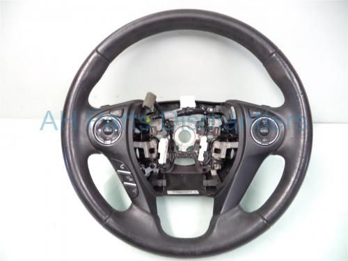 Used 2013 Honda Accord STEERING WHEEL wear WITH PADDLE SHIFTERS 78501-T2A-U51ZA 78501T2AU51ZA. Purchase from https://ahparts.com/buy-used/2013-Honda-Accord-STEERING-WHEEL-wear-78501-T2A-U51ZA-78501T2AU51ZA/83340-1?utm_source=pinterest