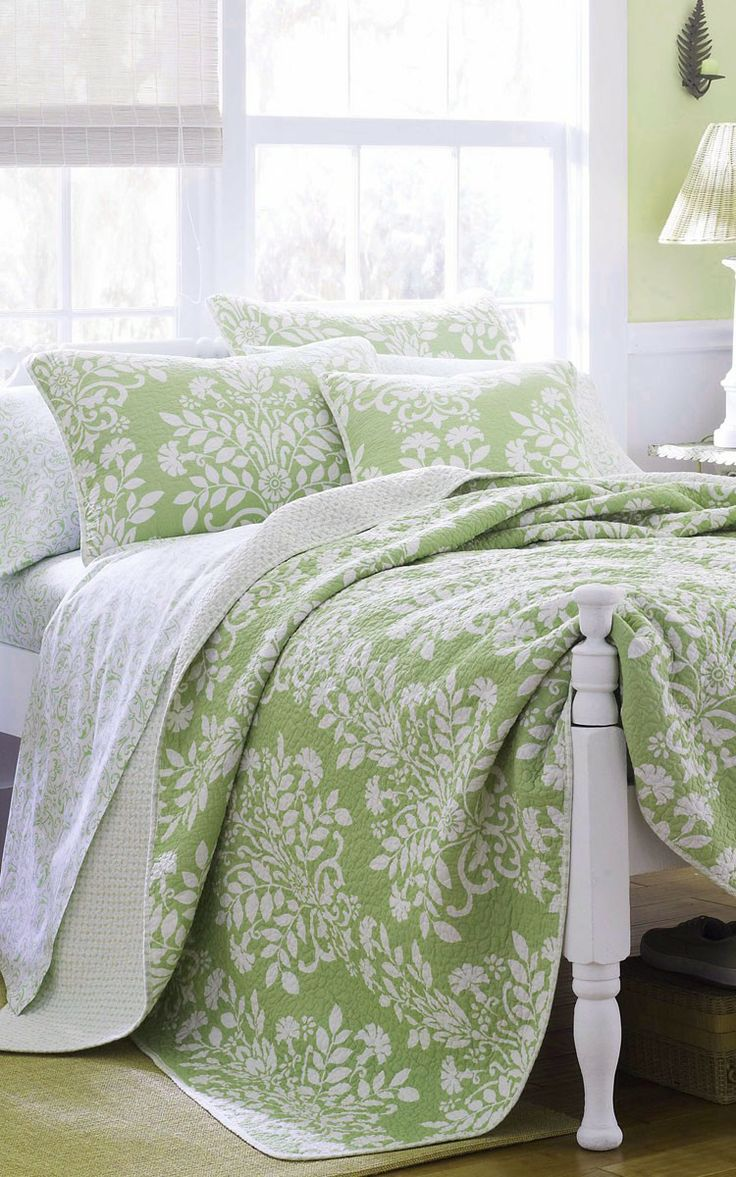 best  green comforter ideas on pinterest  green bedding  - green on walls  also bedspread green wayfair