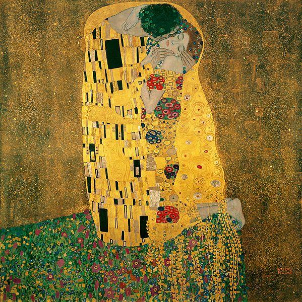 """Gustav Klimt_""""Der Kuss""""_1907"""