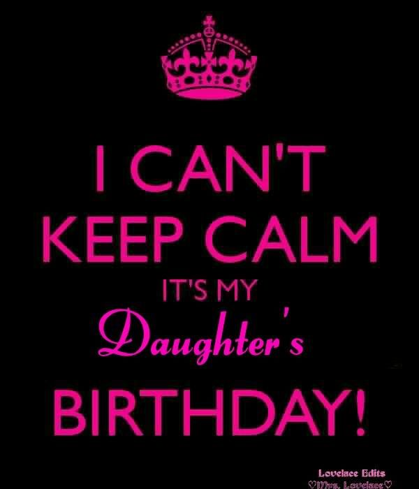 DAUGHTER'S BIRTHDAY