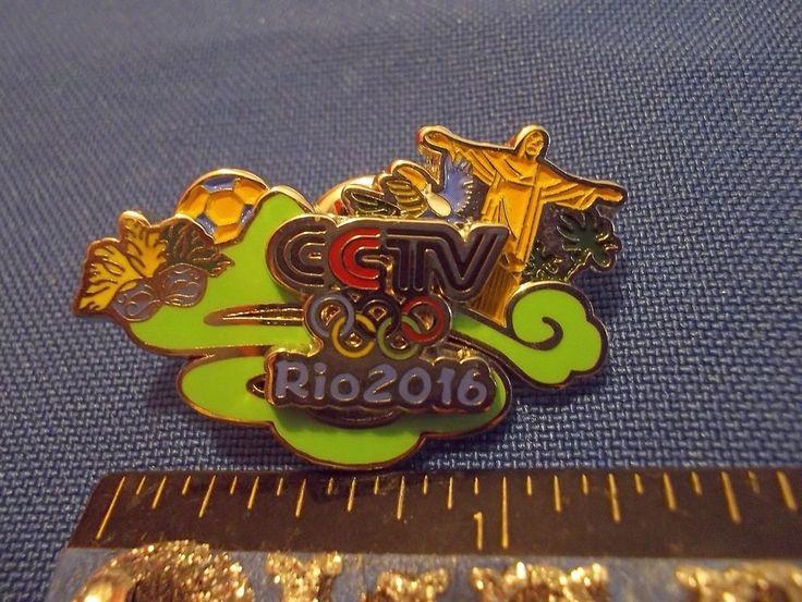 2016 Rio Olympic Media Pin CCTV (China Central Television) #1