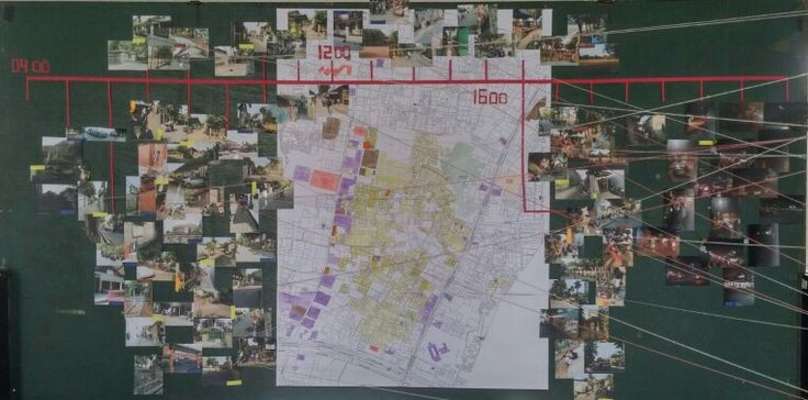 This map shows the landuse of the site. The photos categorized along the timeline depic detailed situations in 28 specific spots concidered as potentialy interfaced places.