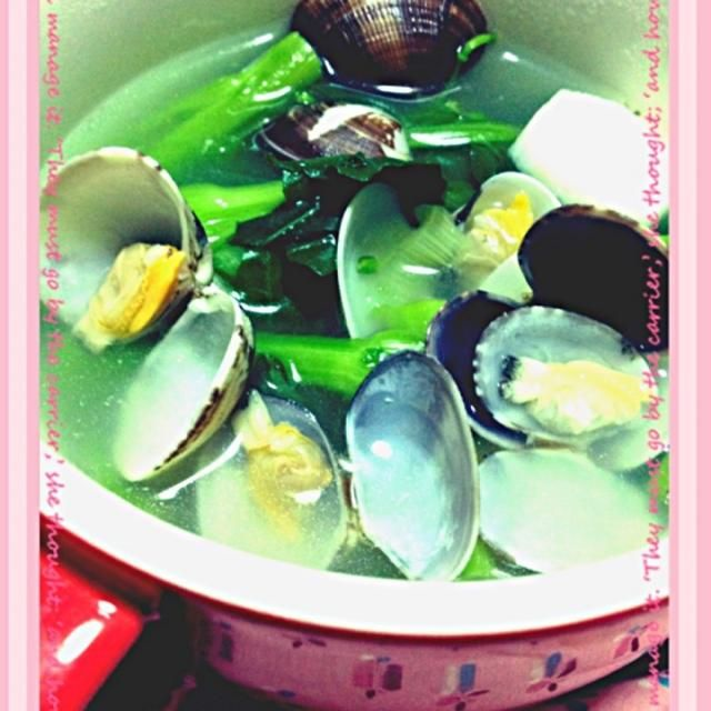 あさりの出汁が最高❤ - 43件のもぐもぐ - あさり・青菜・長芋スープ by happy3