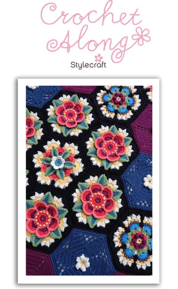 Stylecraft announced their NEW Crochet Along by Jane Crowfoot,which launches in April. Designed once again by the talented Jane Crowfoot, Frida's Flowers blanket is inspired by Mexican folk art and the colourful dresses worn by the Mexican artist Frida Kahlo.
