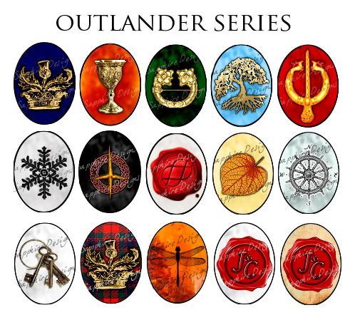 """""""Outlander Series Designs Designs I have created for my fanshop. Availible as pendants, ornaments, magnets, charms, bookmarks, keychains and more. Contact me if you see any you would like to order. *PLEASE NOTE that the watermarks and black outline will NOT appear on any final designs.*"""""""
