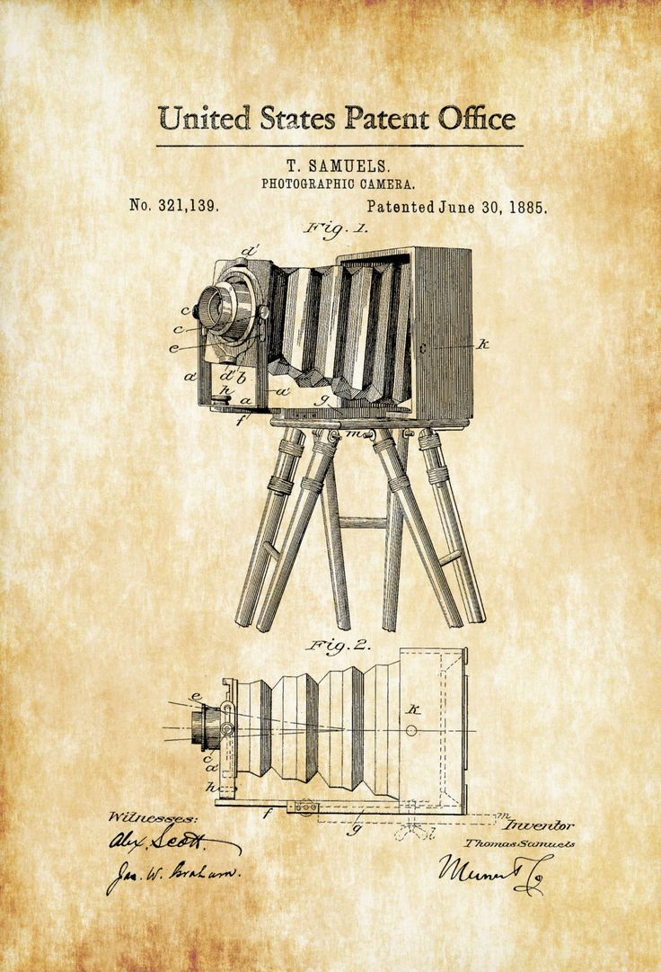 Photographic Camera Patent 1885 – Patent Print, Photography Art, Camera Art, Photography Patent, Antique Camera, Photographer Gift – myPatentPrints