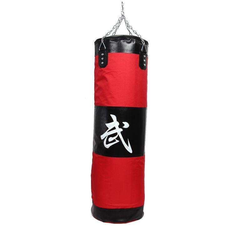 sale 100cm training fitness mma boxing bag hook hanging saco de boxe kick fight bag sand punch punching bag #sand #bags
