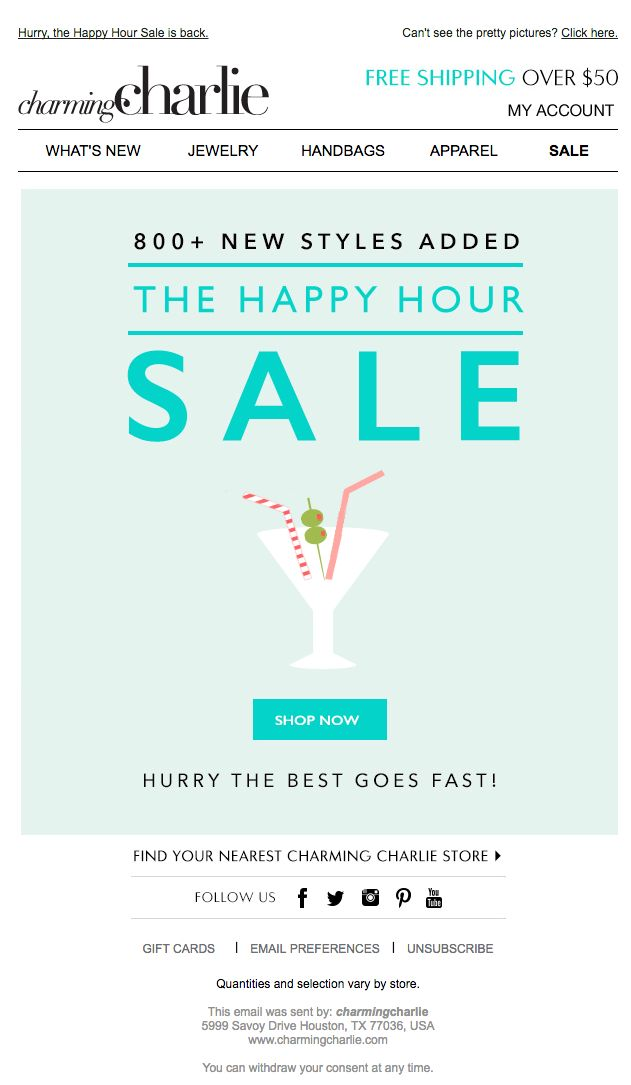 Best Email  SaleFlash Sale Images On   Email Design