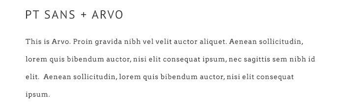 9 Pretty Google Font Pairings For Your Blog PT Sans   Arvo