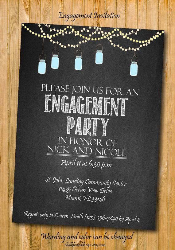 28 best Engagement invites images – Free Printable Engagement Party Invitations