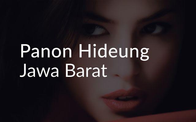 Lirik Lagu Panon Hideung - Jawa Barat