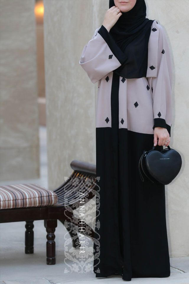Dubai style abaya, online hijab store www.annahariri.com➕More Pins Like This At FOSTERGINGER @ Pinterest✖️