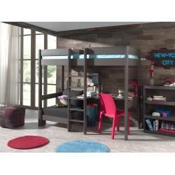 Funktions Hochbett Pino Taupe Kiefer Massiv Mit Sessel 90x200 Cm Roller In 2020 Hochbett Loft Betten Und Sofabett