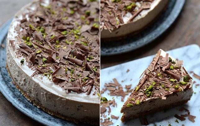 "Opskrift på ""no bake"" Baileys og chokolade-cheesecake"